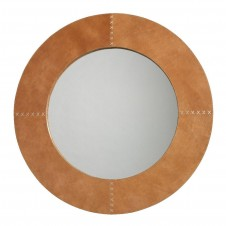round cross stitch mirror
