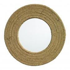 round jute mirror