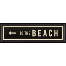"""""""to the beach"""" left arrow street sign"""