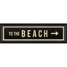 """to the beach"" right arrow street sign"