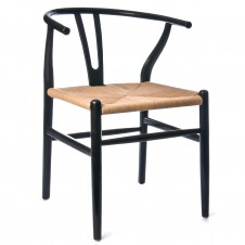 oak chair black