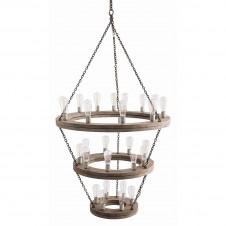 arteriors geoffrey three tier chandelier