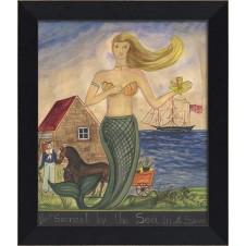 """""""mermaid sconset by the sea"""" mermaid art"""