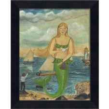 """""""she was there to see the race"""" mermaid art"""