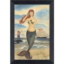"""""""the call of the sea"""" mermaid art"""
