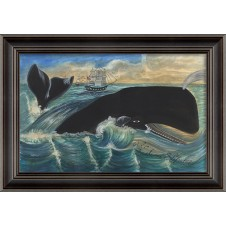 """""""whale passing ships"""" whale art"""