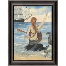 """""""lets rock"""" mermaid art"""