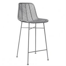 grey rattan bar stool