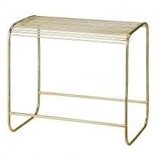 gold metal stool