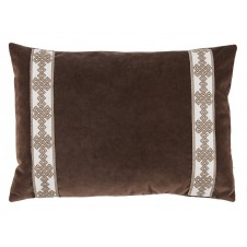 lacefield cafe velvet with amalfi tape lumbar pillow