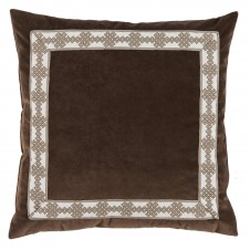 lacefield cafe velvet with amalfi tape pillow