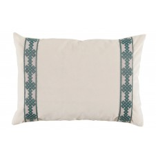lacefield fleece velvet with amalfi tape lumbar pillow