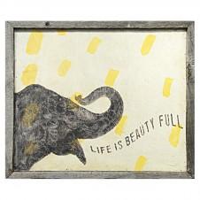 smart elephant art print