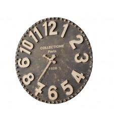 black & white wooden wall clock