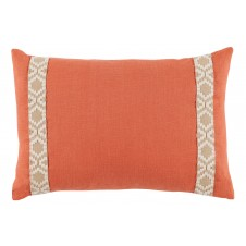 lacefield spice linen with off white on tan camden tape lumbar pillow