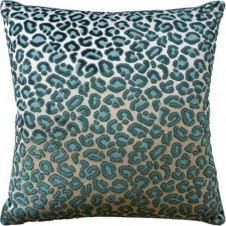 cheetah velvet emerald pillow