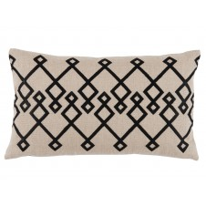 lacefield chevron black embroidery lumbar pillow
