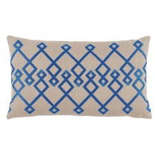 lacefield chevron pacific embroidery lumbar pillow