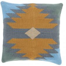 surya cotton kilim navajo pillow in camel