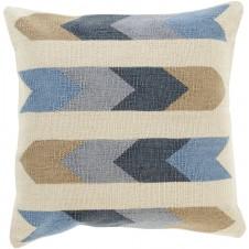 surya cotton kilim arrows pillow in cream
