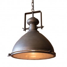 large metal pendant w/ glass cover