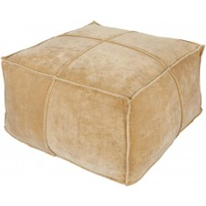 surya cotton velvet pouf