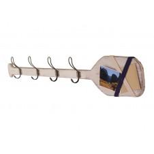wooden oar coat rack