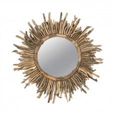 sanctuary driftwood sunburst mirror