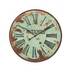 metal wall clock, green