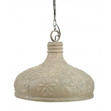 embossed pendant lamp w/ silver leafing