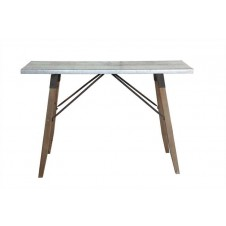metal & wood table