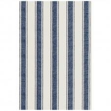 dash & albert blue awning stripe woven cotton rug