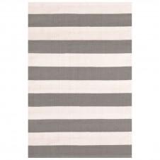 dash & albert catamaran stripe fieldstone ivory indoor/outdoor rug