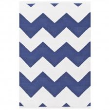 dash & albert chevron denim white indoor/outdoor rug