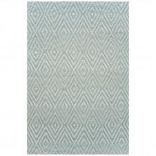 dash & albert diamond light blue ivory indoor/outdoor rug