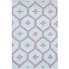 dash & albert elizabeth blue indoor / outdoor rug