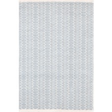 dash & albert fair isle swedish blue / ivory cotton woven rug