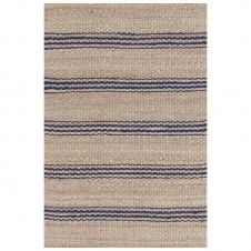 dash & albert jute ticking indigo woven rug