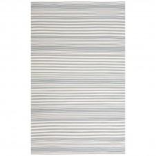 dash & albert rugby stripe light blue indoor/outdoor rug