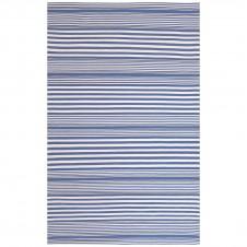 dash & albert rugby stripe denim indoor/outdoor rug