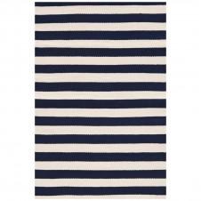 dash & albert trimaran stripe navy indoor/outdoor rug