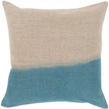 surya dip dyed pillow in teal