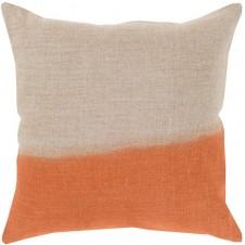 surya dip dyed pillow in burnt orange