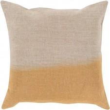 surya dip dyed pillow in tan