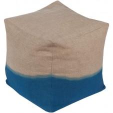 surya dip dyed pouf in dark blue