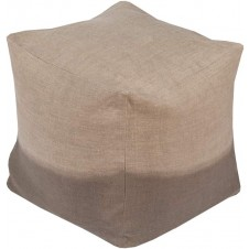 surya dip dyed pouf in taupe