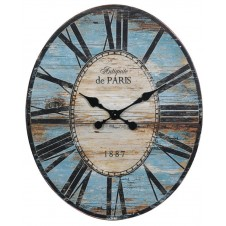 turquoise oval wall clock
