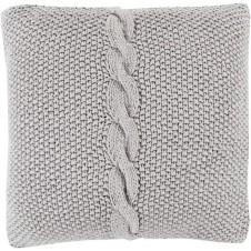 surya genevieve pillow in medium gray