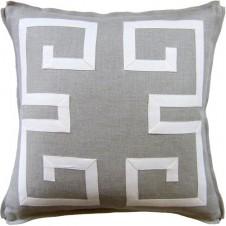 greek key fretwork pillow