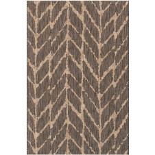 isle collection charcoal & mocha feather polypropylene rug